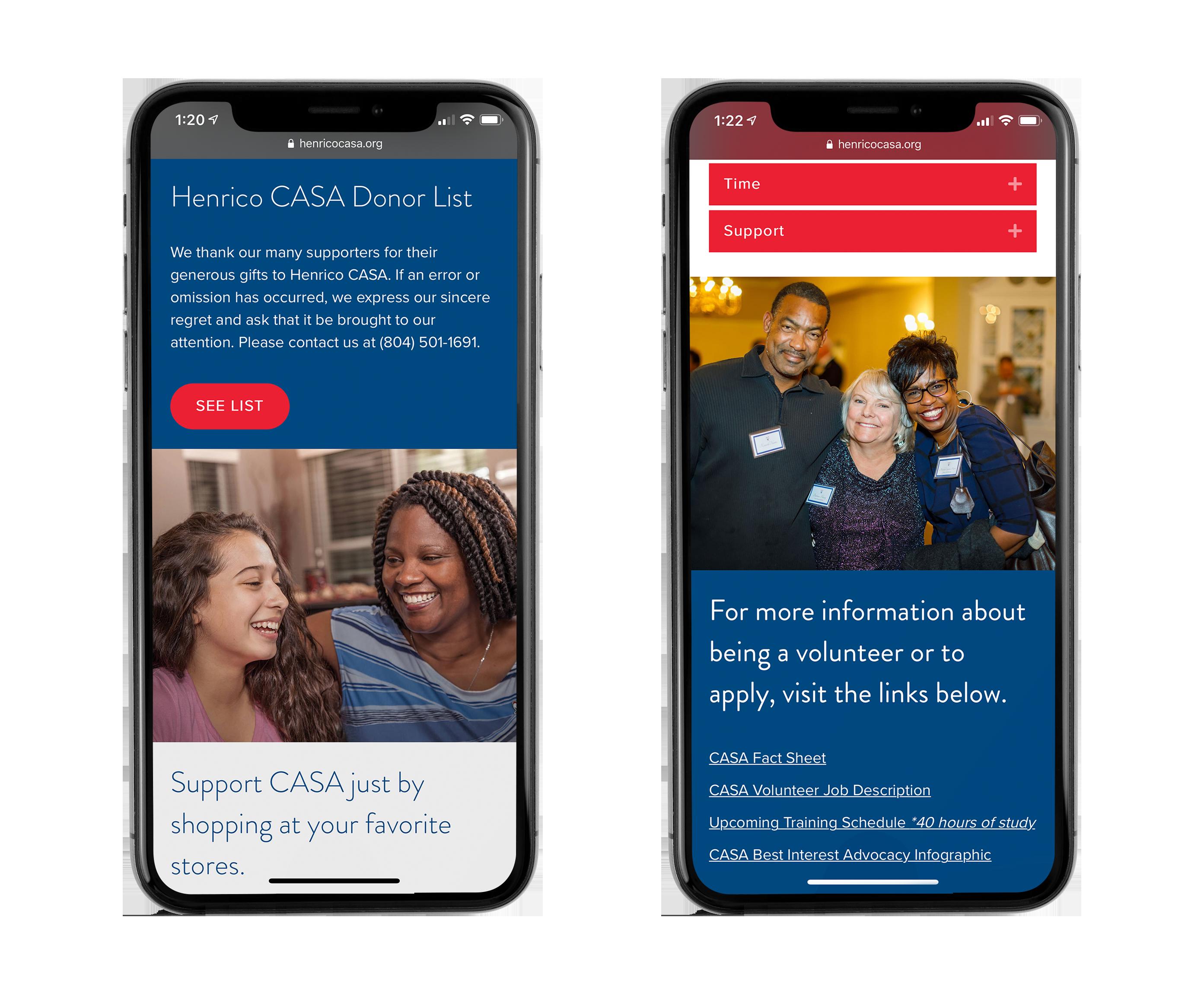 CASA Mobile website