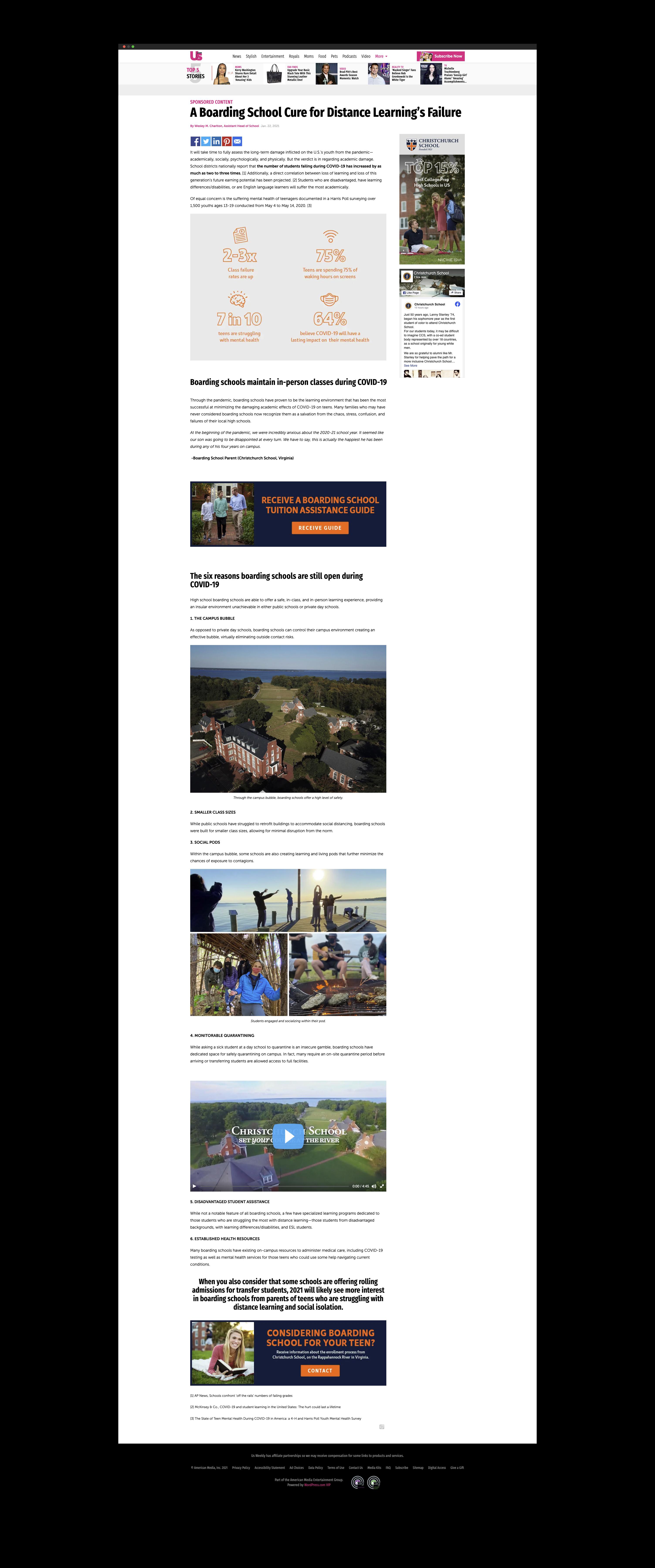Christchurch School Sponsored Article